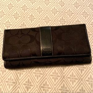 COACH Long Wallet Black